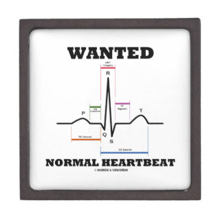 Wanted Normal Hearbeat (ECG/EKG Electrocardiogram) Keepsake Box