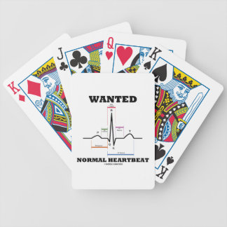 Wanted Normal Hearbeat (ECG/EKG Electrocardiogram) Playing Cards