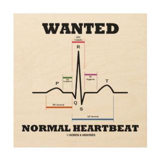 Wanted Normal Heartbeat ECG Electrocardiogram Wood Wall Art