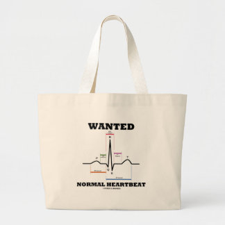 Wanted Normal Heartbeat (Electrocardiogram) Canvas Bag