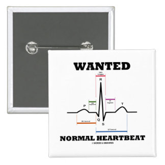 Wanted Normal Heartbeat (Electrocardiogram) Button