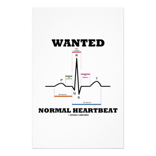 Wanted Normal Heartbeat (Electrocardiogram) Personalized Stationery