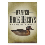 Wanted - Old Duck Decoys Table Cards