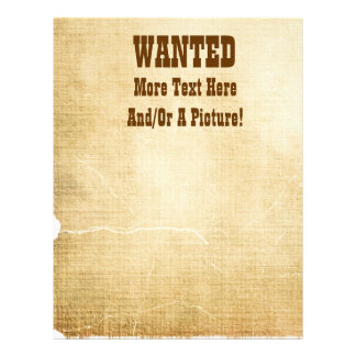 Wanted Old West Theme Letterhead Stationery