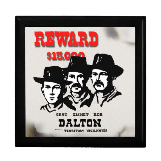 Wanted Outlaw Poster Keepsake Box