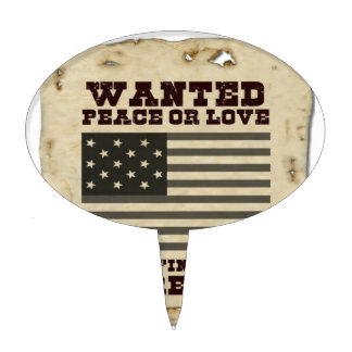 Wanted Peace Cake Topper