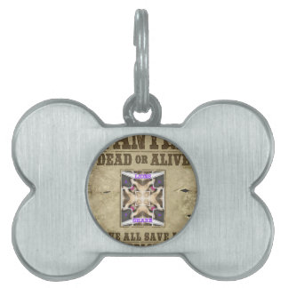 Wanted Peace Pet Name Tag