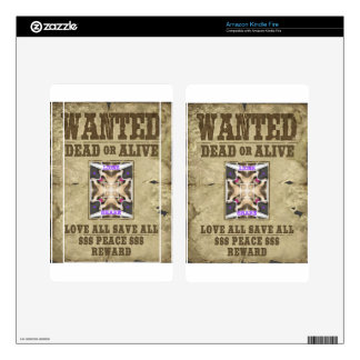 Wanted Peace Skins For Kindle Fire