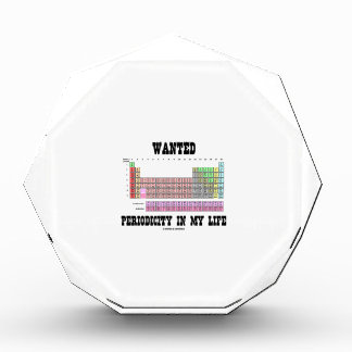 Wanted Periodicity In My Life (Periodic Table) Awards