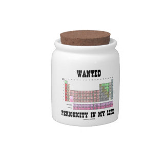 Wanted Periodicity In My Life (Periodic Table) Candy Dish