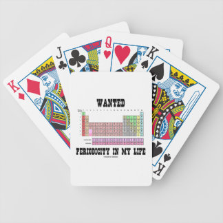 Wanted Periodicity In My Life (Periodic Table) Card Decks