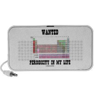 Wanted Periodicity In My Life (Periodic Table) Speaker