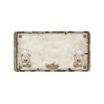 Wanted Pig BBQ Address Labels