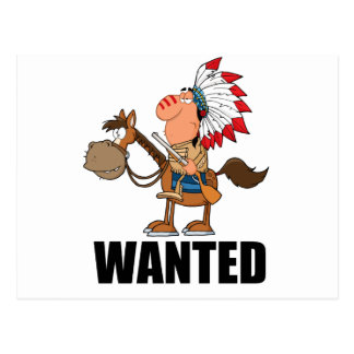WANTED POSTCARD