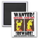WANTED POSTER #1 REFRIGERATOR MAGNET