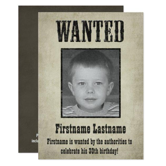 wanted_poster_birthday_invitation r1a05b5fbc243457799a99b32694e7c3b_6gduf_630?rlvnet=1&view_padding=%5B285%2C0%2C285%2C0%5D wanted poster birthday invitation zazzle,Wanted Poster Birthday Invitations
