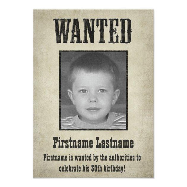 wanted_poster_birthday_invitation r1a05b5fbc243457799a99b32694e7c3b_zkrqs_630?rlvnet=1&view_padding=%5B285%2C0%2C285%2C0%5D wanted poster birthday invitation zazzle,Wanted Poster Birthday Invitations