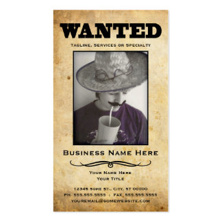 wanted poster Double-Sided standard business cards (Pack of 100)