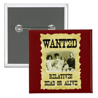 Wanted Poster Pinback Buttons
