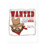 Wanted Poster Cards Post Cards