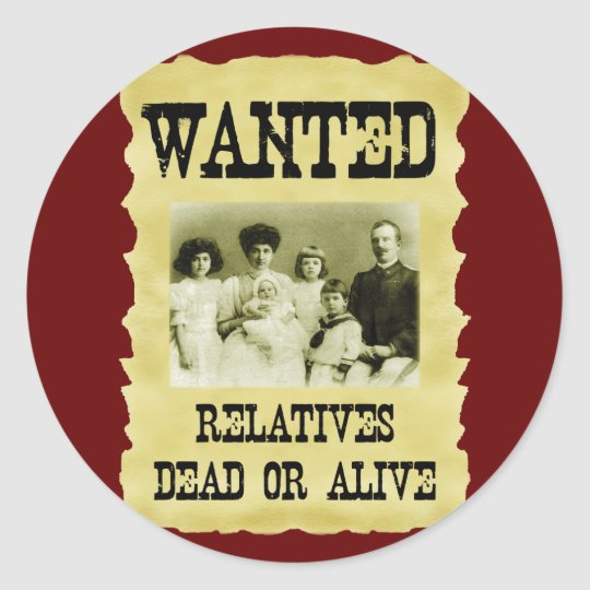 Wanted Poster Classic Round Sticker
