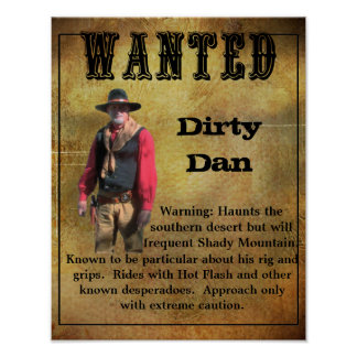 Wanted Poster Dirty Dan