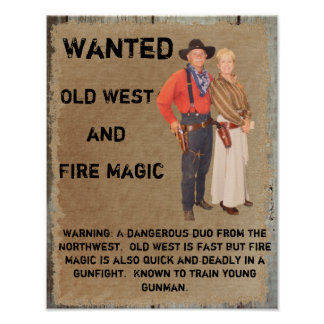 Wanted Poster Gunslinger of West