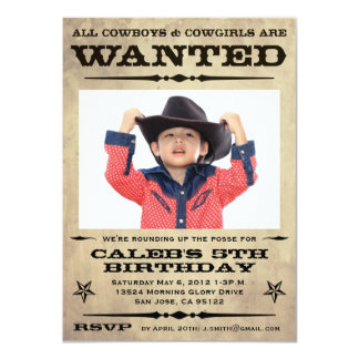 Wanted Poster Kids Party - small Card