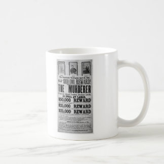 Wanted Poster Lincoln Assassination Conspirators Classic White Coffee Mug