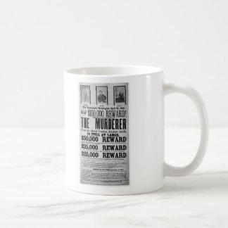 Wanted Poster Lincoln Assassination Conspirators Coffee Mug