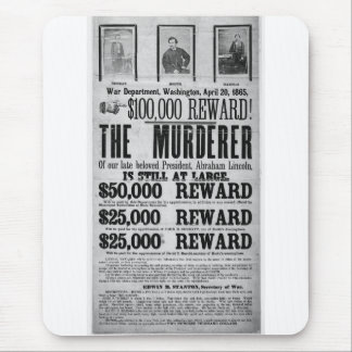 Wanted Poster Lincoln Assassination Conspirators Mouse Pad
