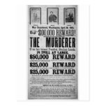 Wanted Poster Lincoln Assassination Conspirators Postcard
