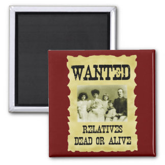 Wanted Poster Refrigerator Magnets