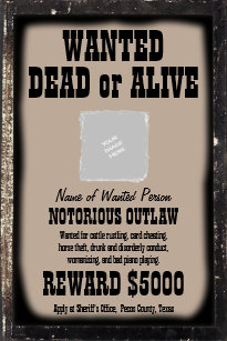 wanted poster make your own customized