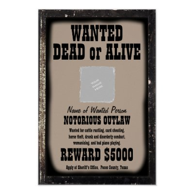 Jesse James Wanted Poster | Zazzle