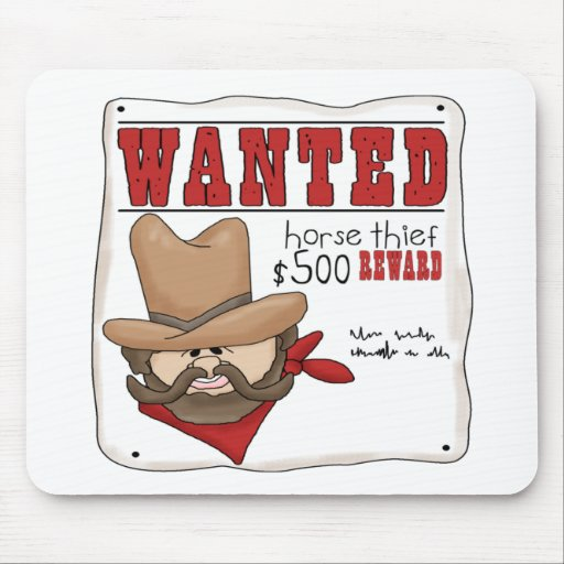 Wanted Poster Mousepad