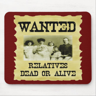 Wanted Poster Mouse Mats