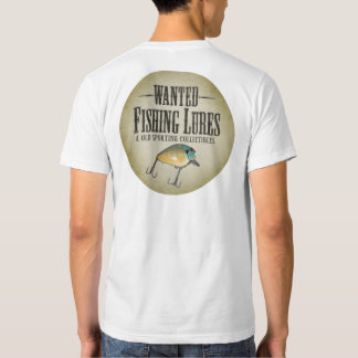 WANTED poster - old fishing lures and collectibles T Shirt