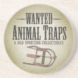 WANTED poster - Old Hunting Traps Collectibles Coaster