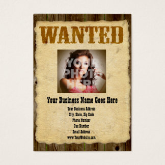 Wanted Poster Old-Time Photo Business Card