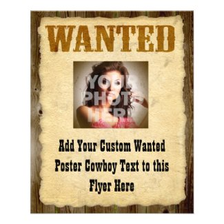 Wanted Poster Old-Time Photo Flyers