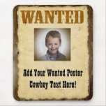 Wanted Poster Old-Time Photo Mouse Pad