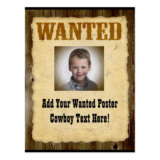 Wanted Poster Old-Time Photo Postcard
