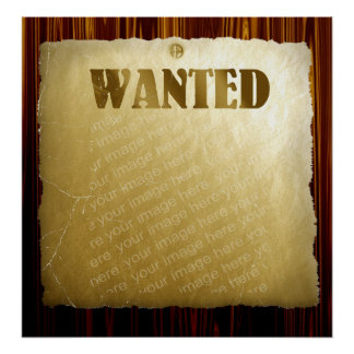 Wanted Poster On Wood