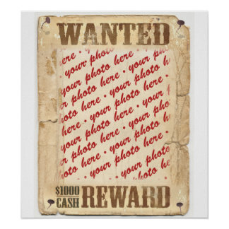 WANTED Poster Photo Frame