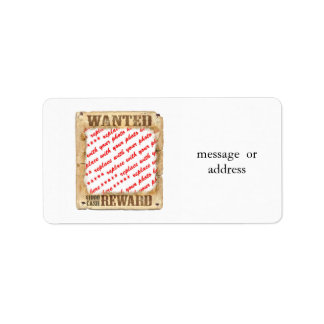 WANTED Poster Photo Frame Address Label