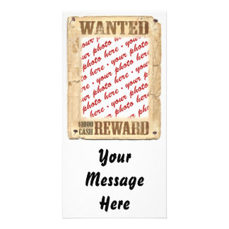 WANTED Poster Photo Frame Card