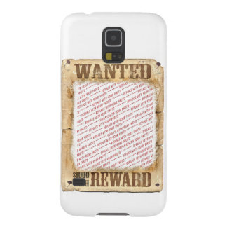 WANTED Poster Photo Frame Galaxy S5 Cases