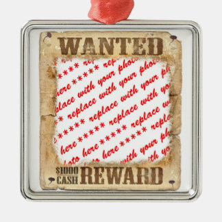 WANTED Poster Photo Frame Metal Ornament