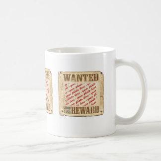 WANTED Poster Photo Frame Coffee Mug
